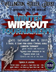 Winter Wipe Out, Hosted by Wellington Roller Derby
